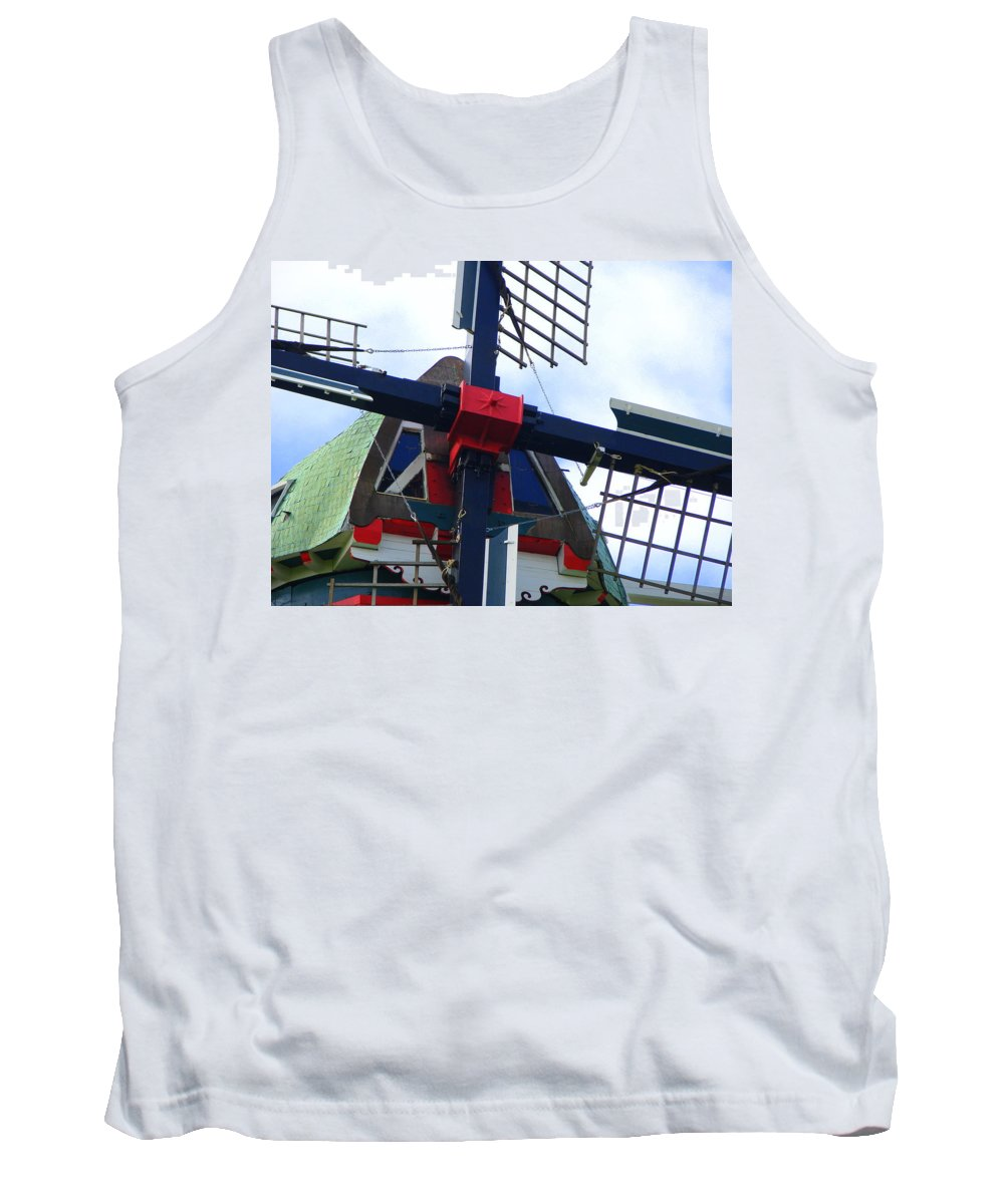 Dezwaan Tank Top featuring the photograph Dezwaan Windmill Holland Michigan by Michelle Calkins