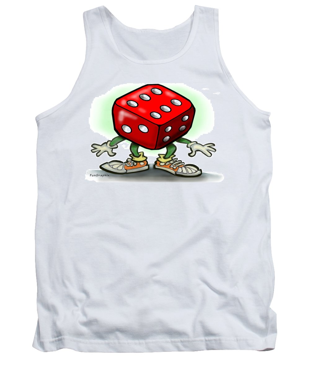 Dice Tank Top featuring the greeting card Dice by Kevin Middleton