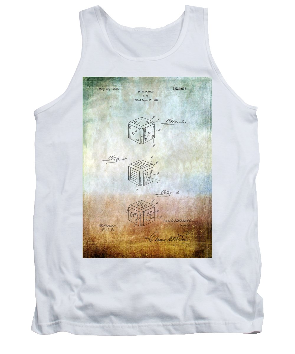 Dice Tank Top featuring the photograph Dice Patent by Chris Smith