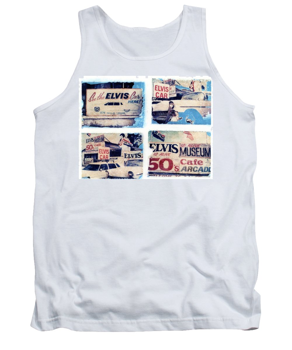 Elvis Tank Top featuring the photograph Disgraceland by Jane Linders