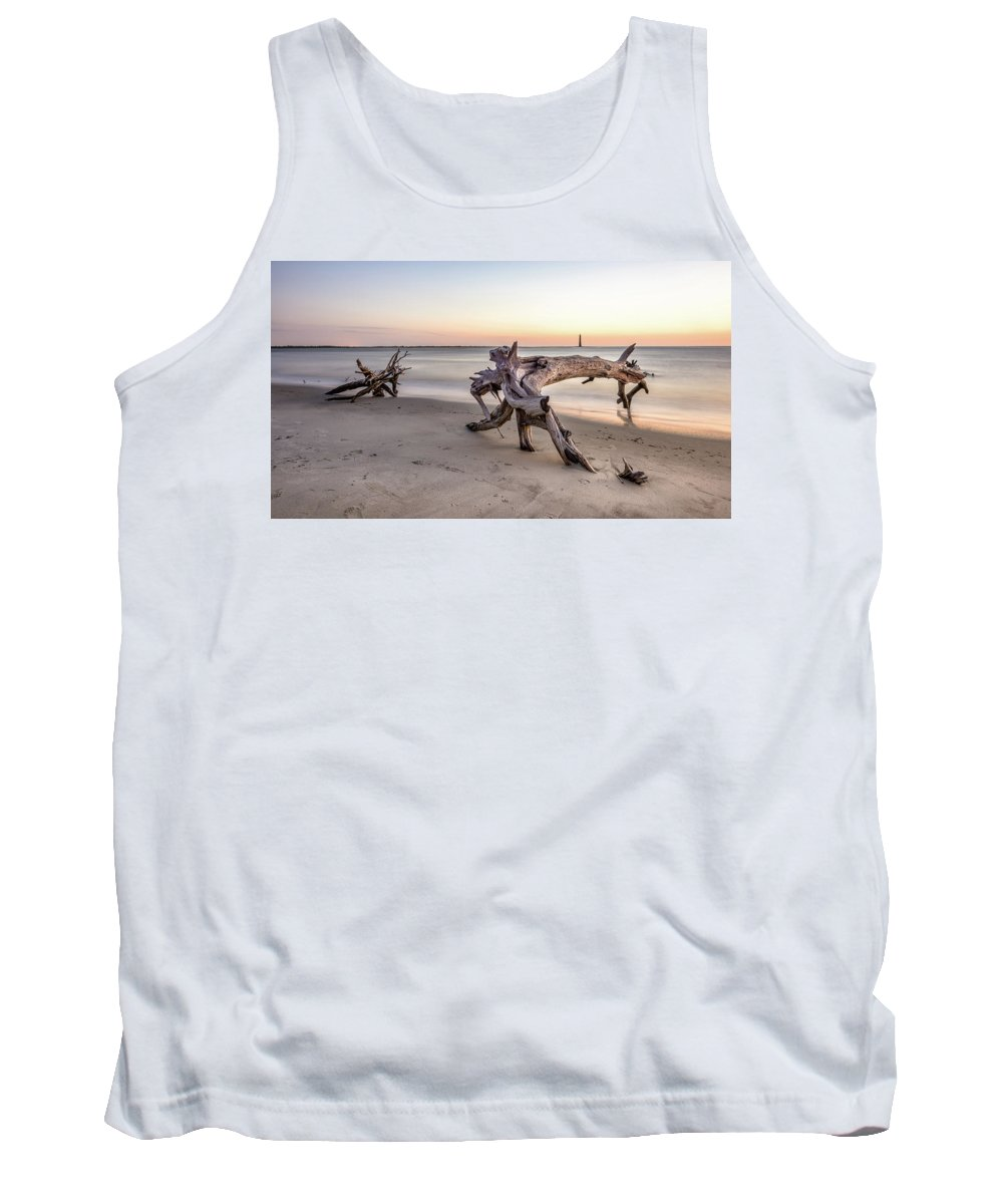 Morris Island Lighthouse Tank Top featuring the photograph Distant Light by Curtis Cabana