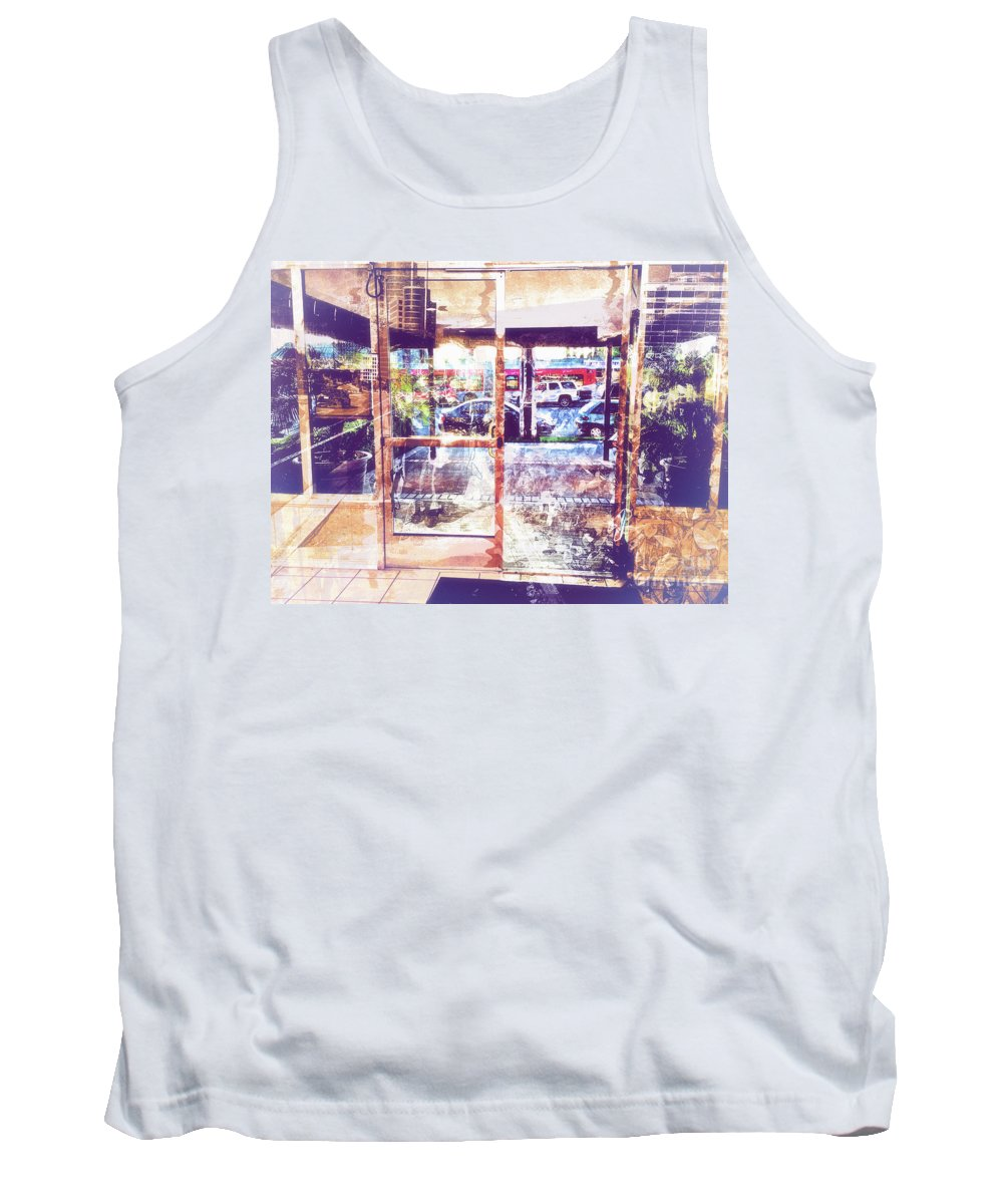 Urban Tank Top featuring the photograph Distressed City by Davy Cheng