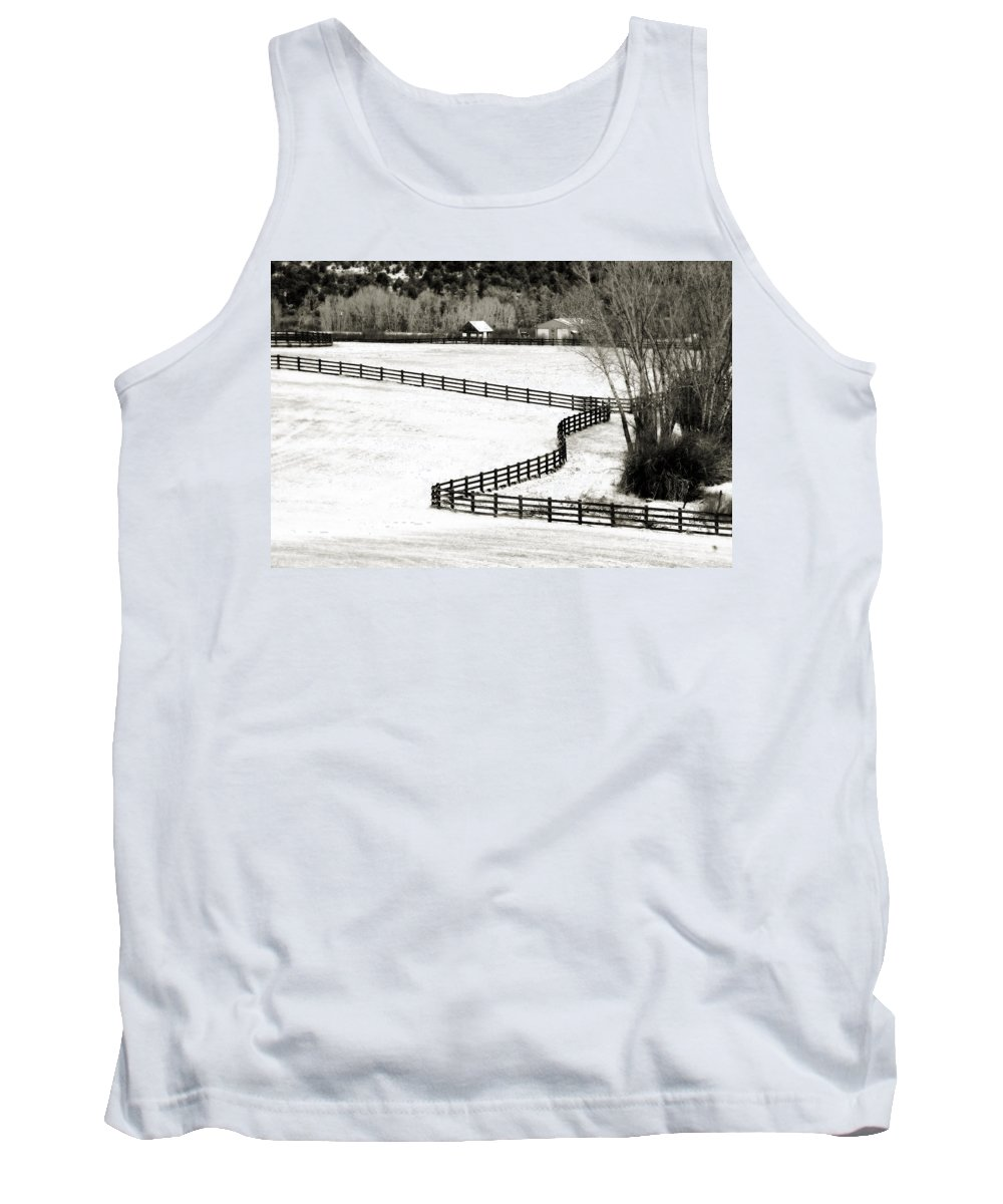 Americana Tank Top featuring the photograph Dividing Lines by Marilyn Hunt
