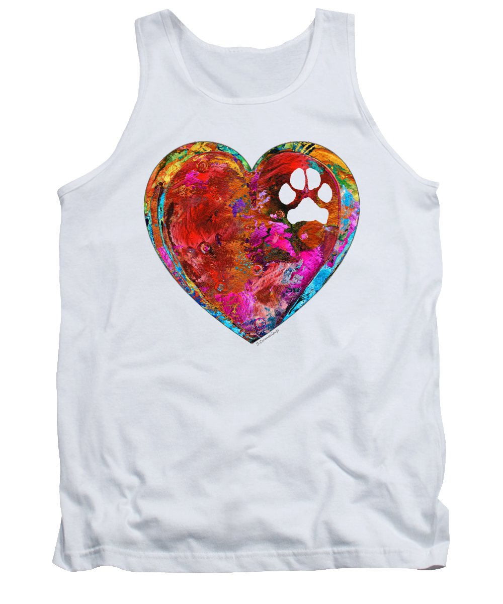 Dog Tank Top featuring the painting Dog Art - Puppy Love 2 - Sharon Cummings by Sharon Cummings