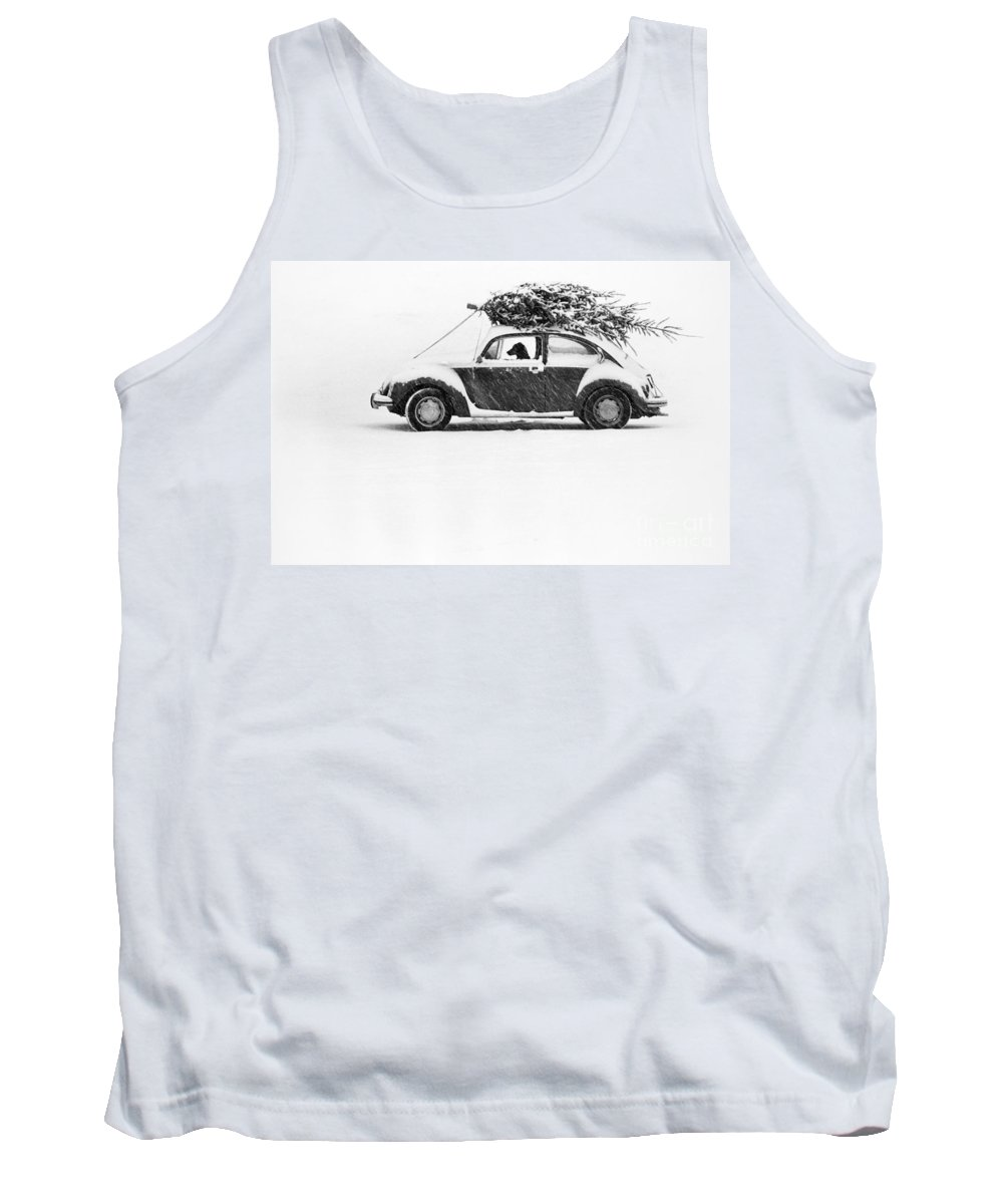 Animal Tank Top featuring the photograph Dog In Car by Ulrike Welsch and Photo Researchers