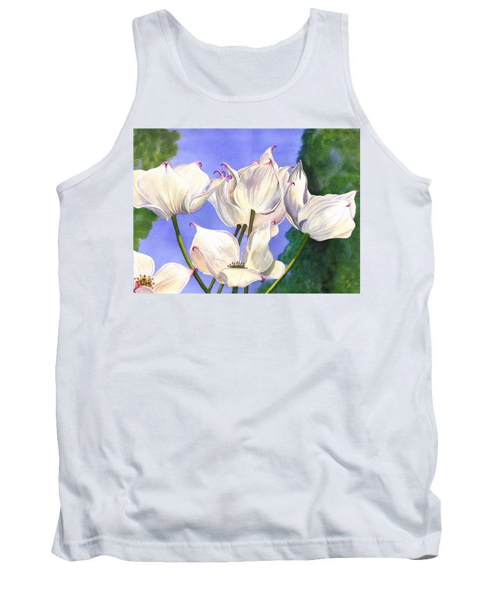 Flower Tank Top featuring the painting Dogwood by Catherine G McElroy