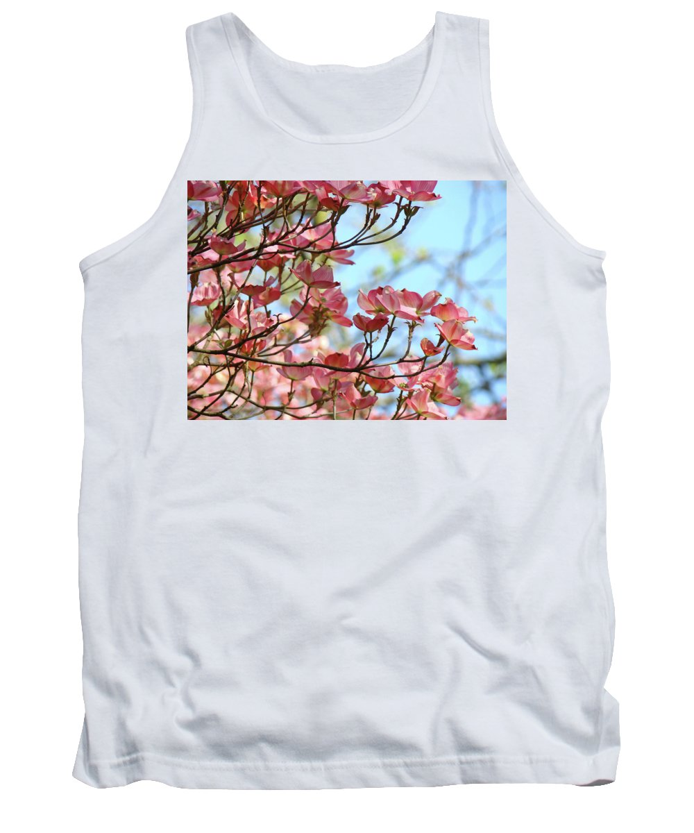 Dogwood Tank Top featuring the photograph Dogwood Flowering Trees Pink Dogwood Flowers Baslee Troutman by Baslee Troutman