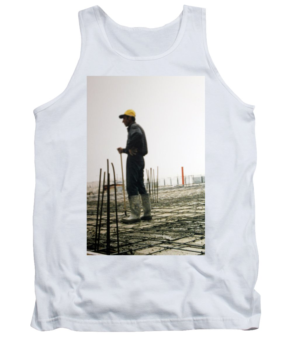 Man Tank Top featuring the photograph Doing The Calculations by Munir Alawi