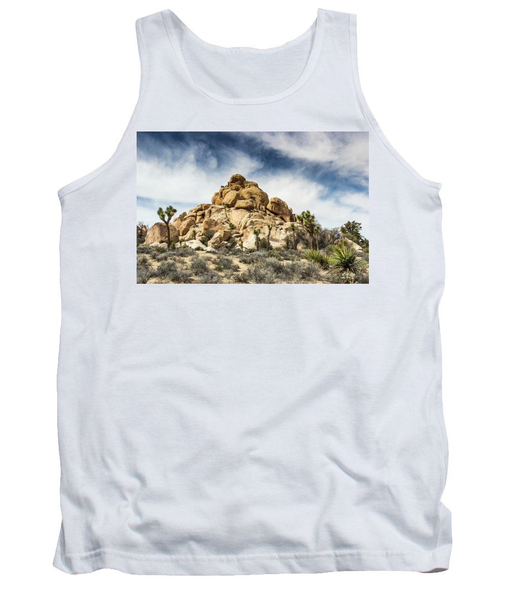 Landscape Tank Top featuring the photograph Dome Rock - Joshua Tree National Park by Tyler Krol
