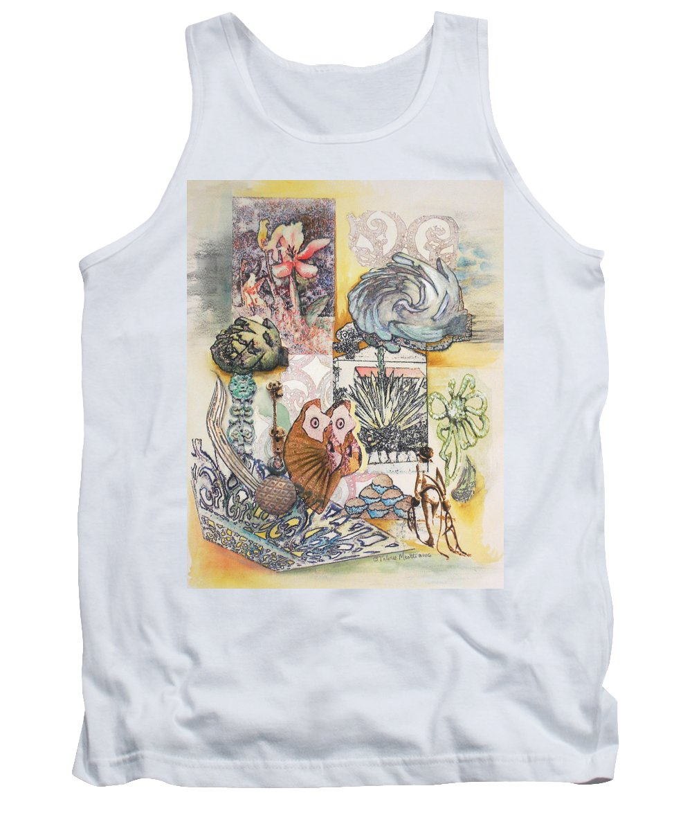 Abstract Tank Top featuring the painting Don't Artichoke by Valerie Meotti