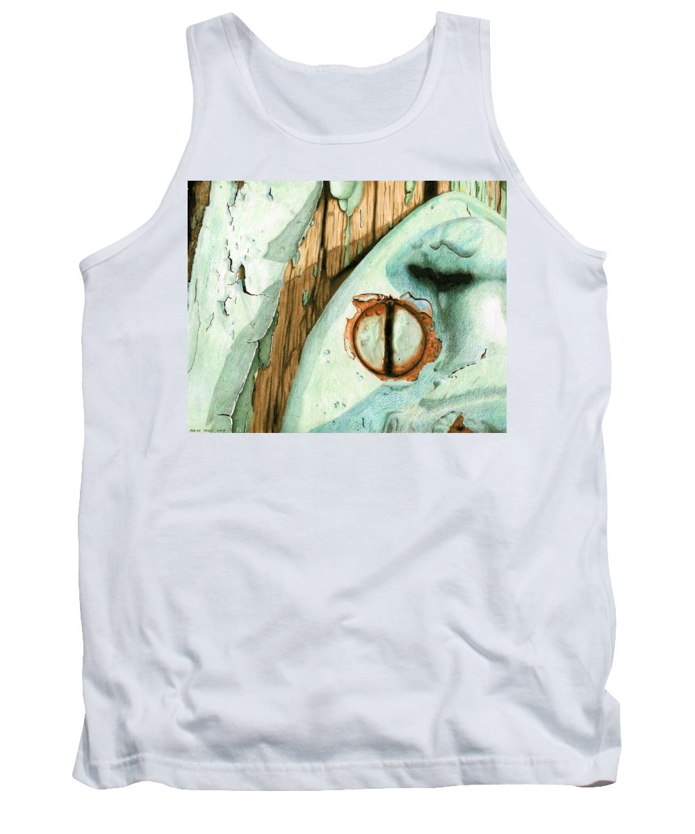 Old Tank Top featuring the mixed media Door Handle by Rob De Vries