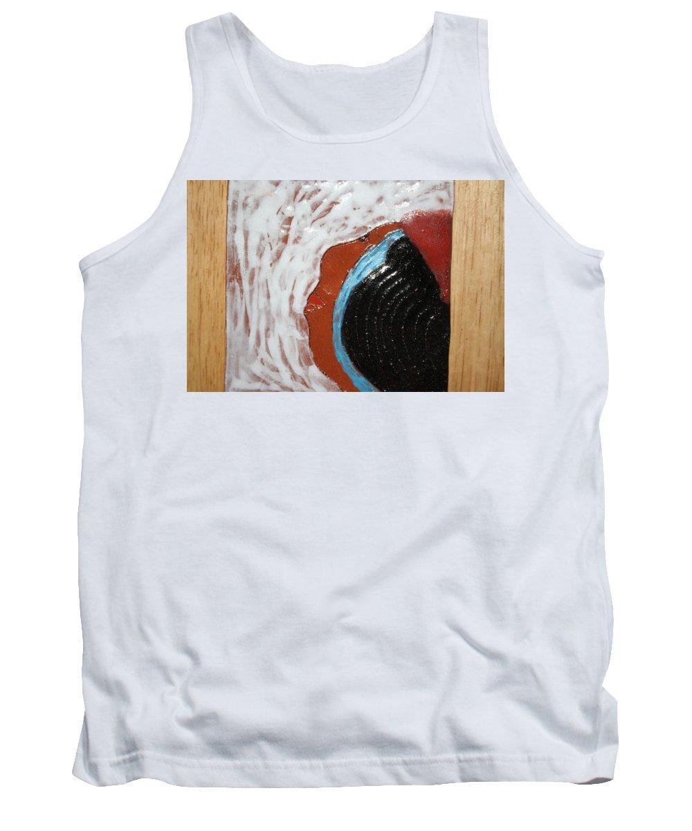 Jesus Tank Top featuring the ceramic art Doreen - Tile by Gloria Ssali