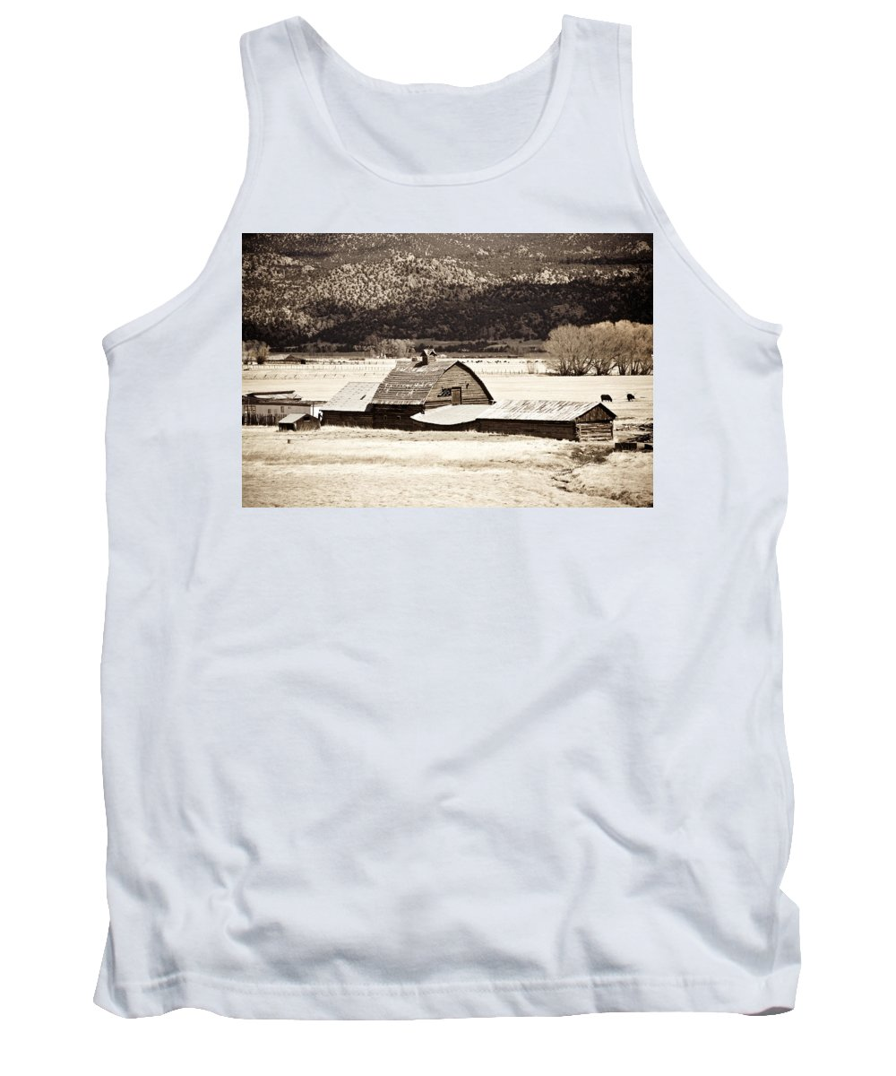 Americana Tank Top featuring the photograph Down On The Farm by Marilyn Hunt