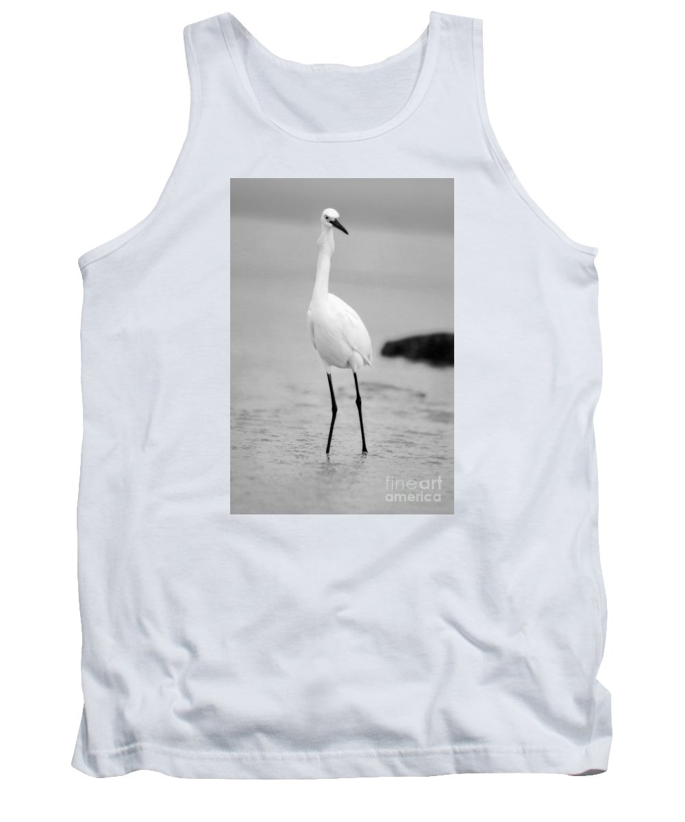 Tank Top featuring the photograph Down The Hatch Goes The Fish In Black And White by Angela Rath