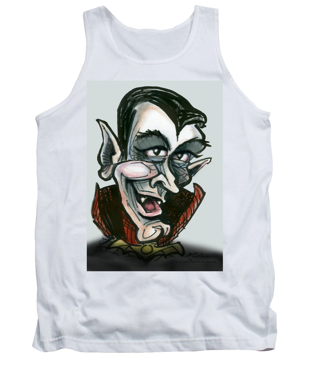 Dracula Tank Top featuring the greeting card Dracula by Kevin Middleton