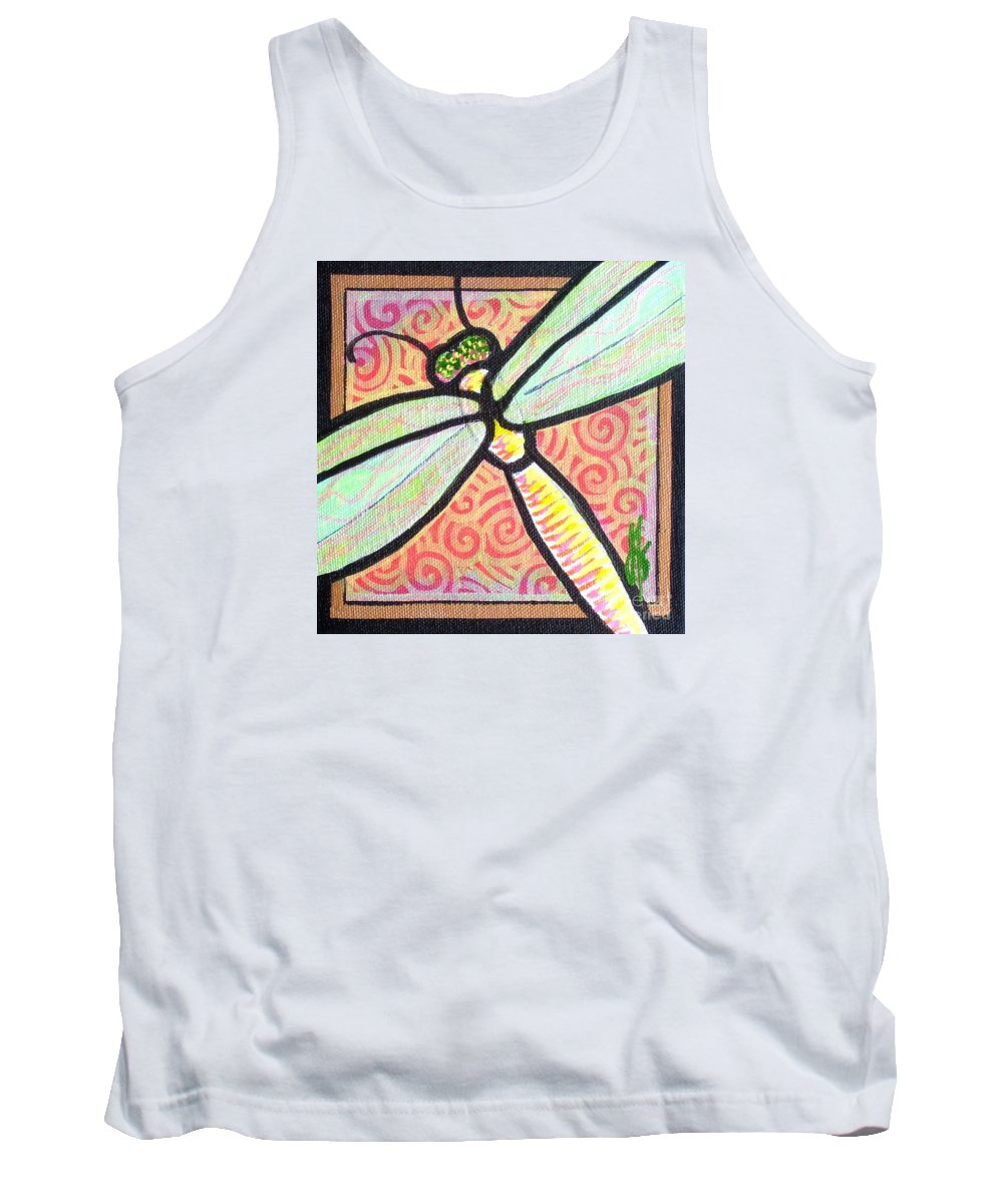 Dragonfly Tank Top featuring the painting Dragonfly Fantasy 3 by Jim Harris