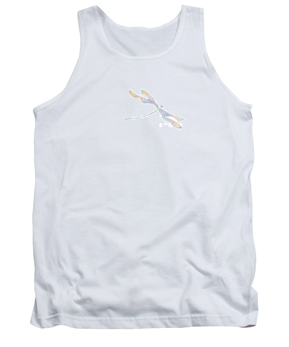 Dragonfly Tank Top featuring the digital art Dragonfly by Heather Hennick