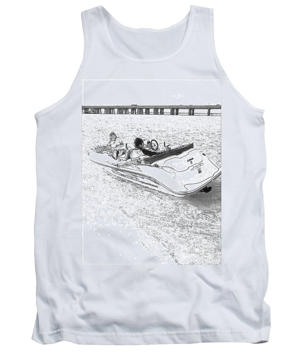 Boat Tank Top featuring the photograph Drawing The Boat by Michelle Powell