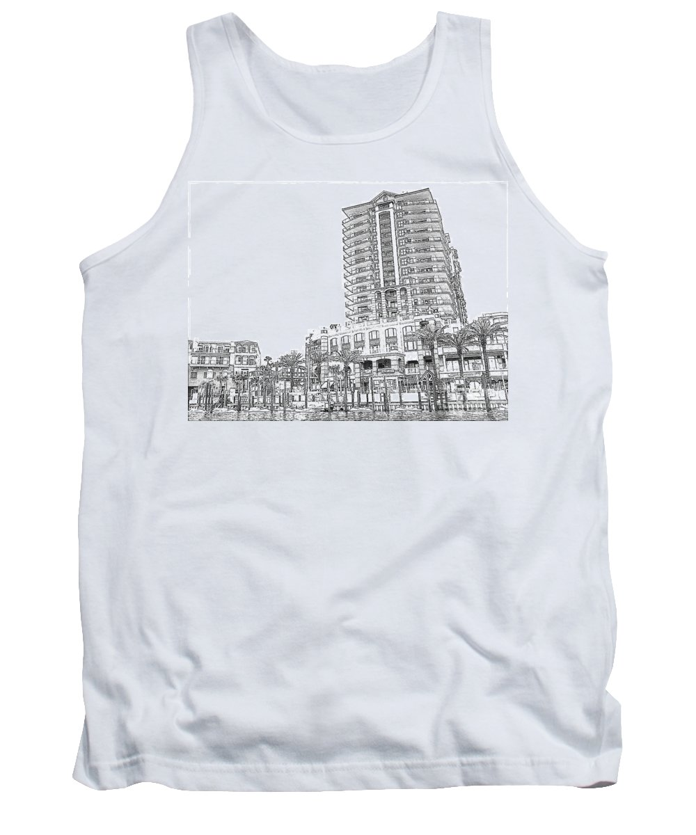 Drawing Tank Top featuring the photograph Drawing The Building by Michelle Powell