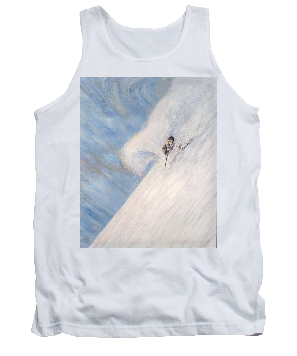 Landscape Tank Top featuring the painting Dreamsareal by Michael Cuozzo