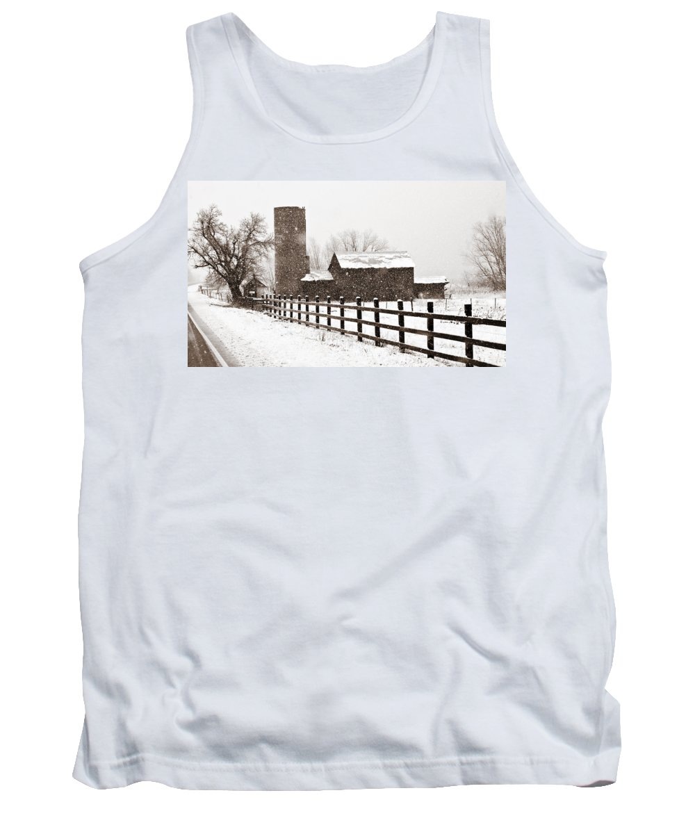 Americana Tank Top featuring the photograph Driving Down Cherryvale by Marilyn Hunt