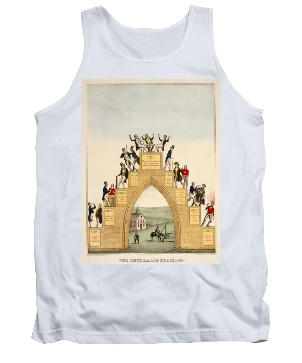 1846 Tank Top featuring the photograph Drunkards Progress, 1846 by Granger