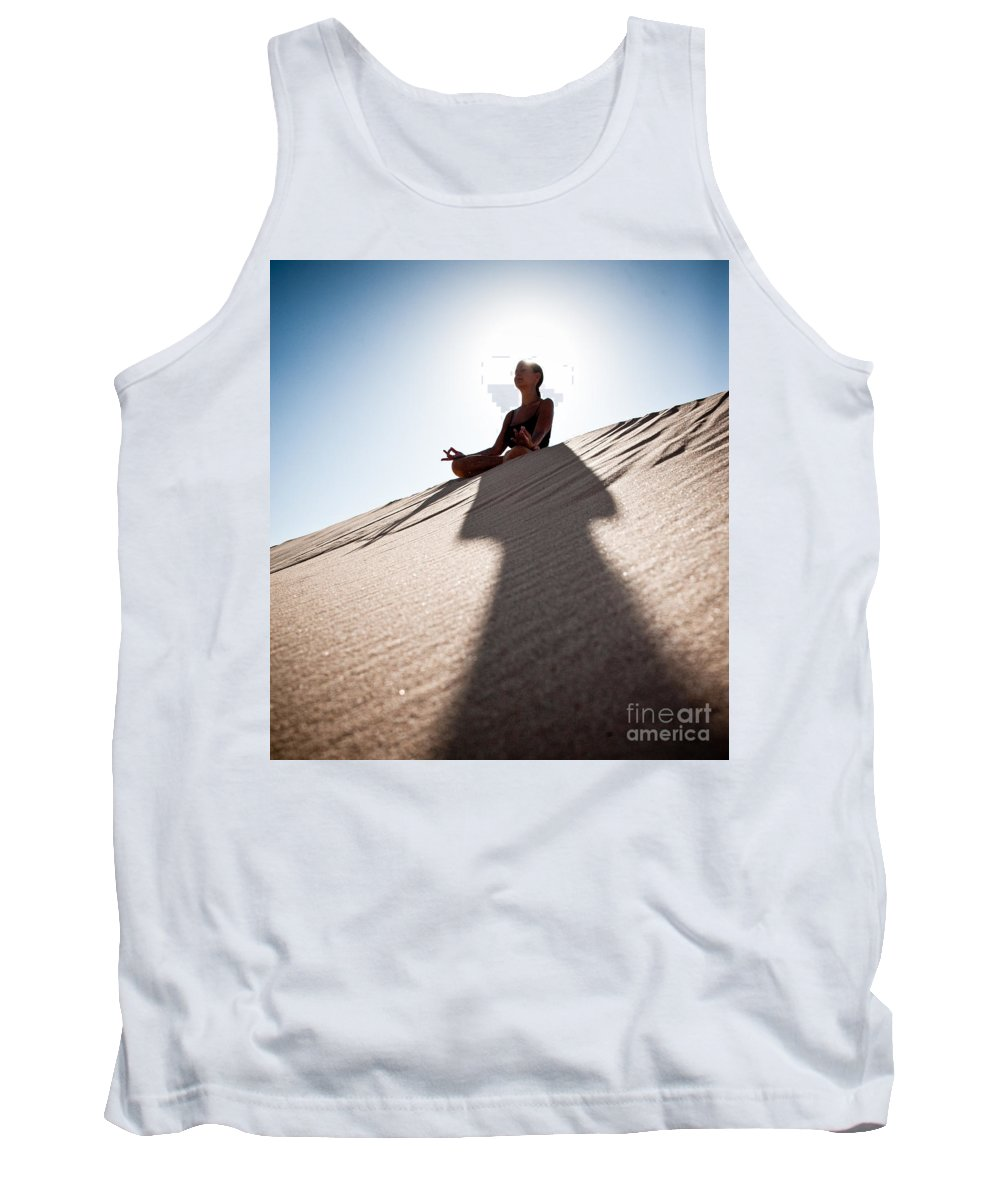 Yoga Tank Top featuring the photograph Dry Meditation by Scott Sawyer
