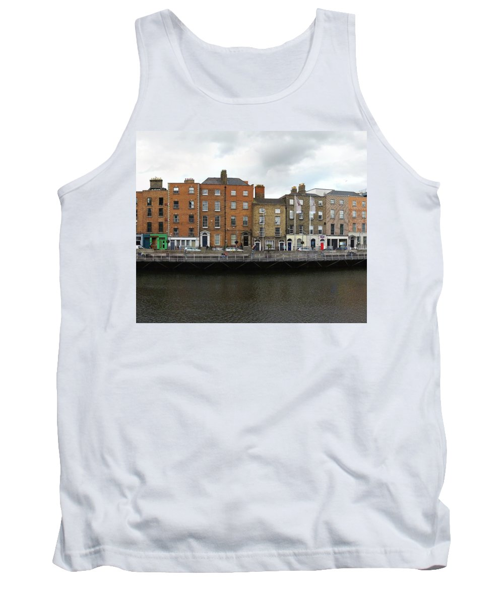 Dublin River Liffey Tank Top featuring the photograph Dublin_3 by Taner Dosluoglu