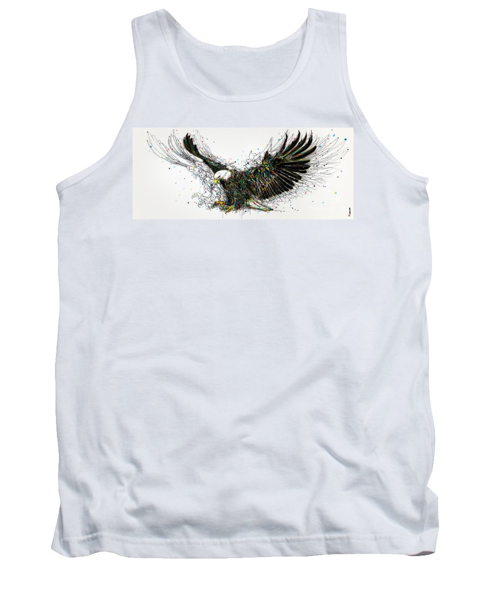 Eagle Tank Top featuring the painting Eagle by Fang Renqi