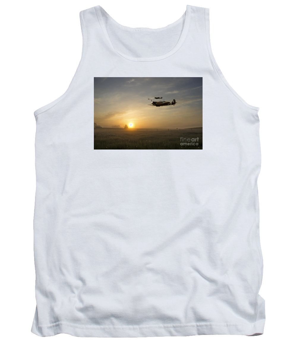Supermarine Tank Top featuring the digital art Eagles Rising by J Biggadike