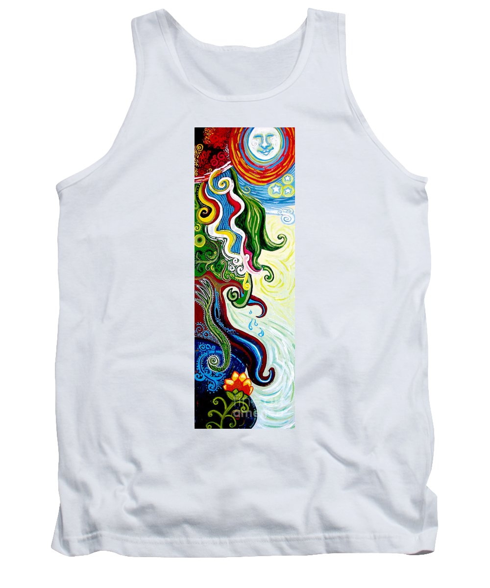 Mother Earth Tank Top featuring the painting Earths Tears by Genevieve Esson