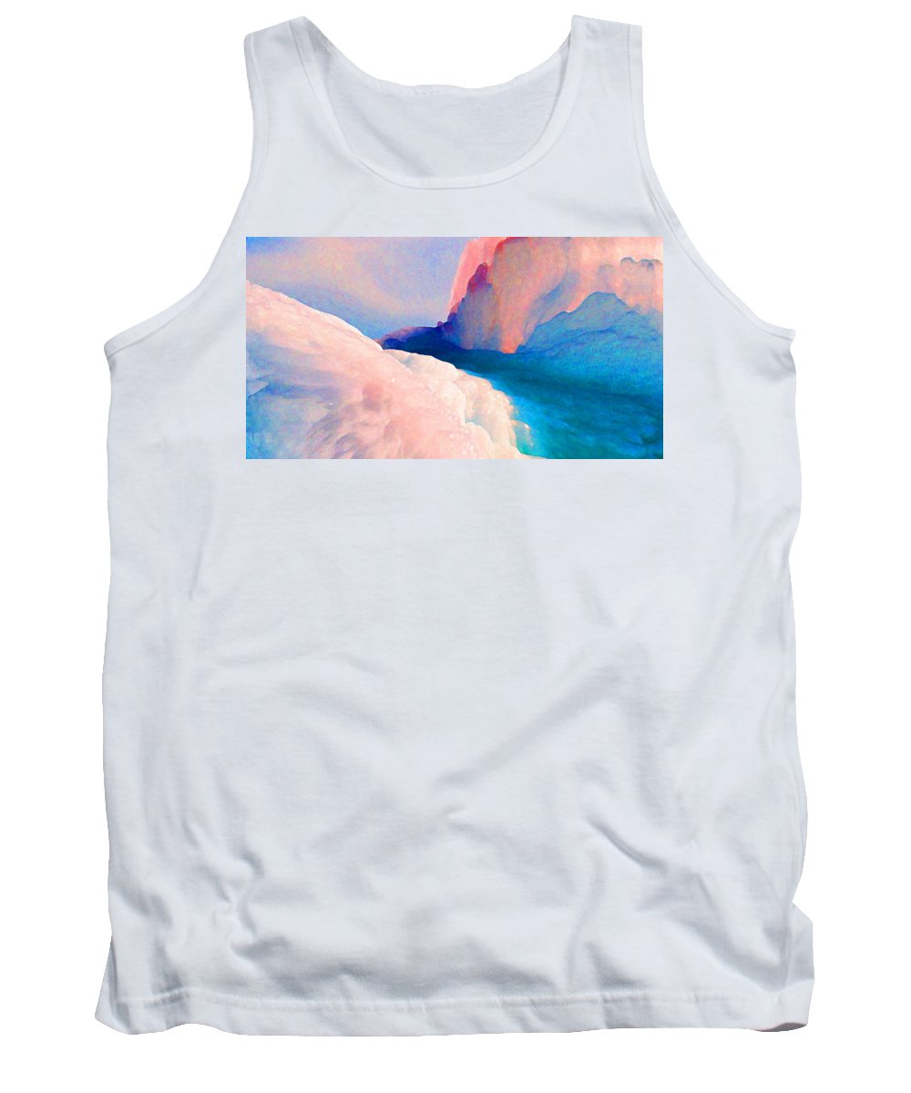 Abstract Tank Top featuring the photograph Ebb and Flow by Steve Karol