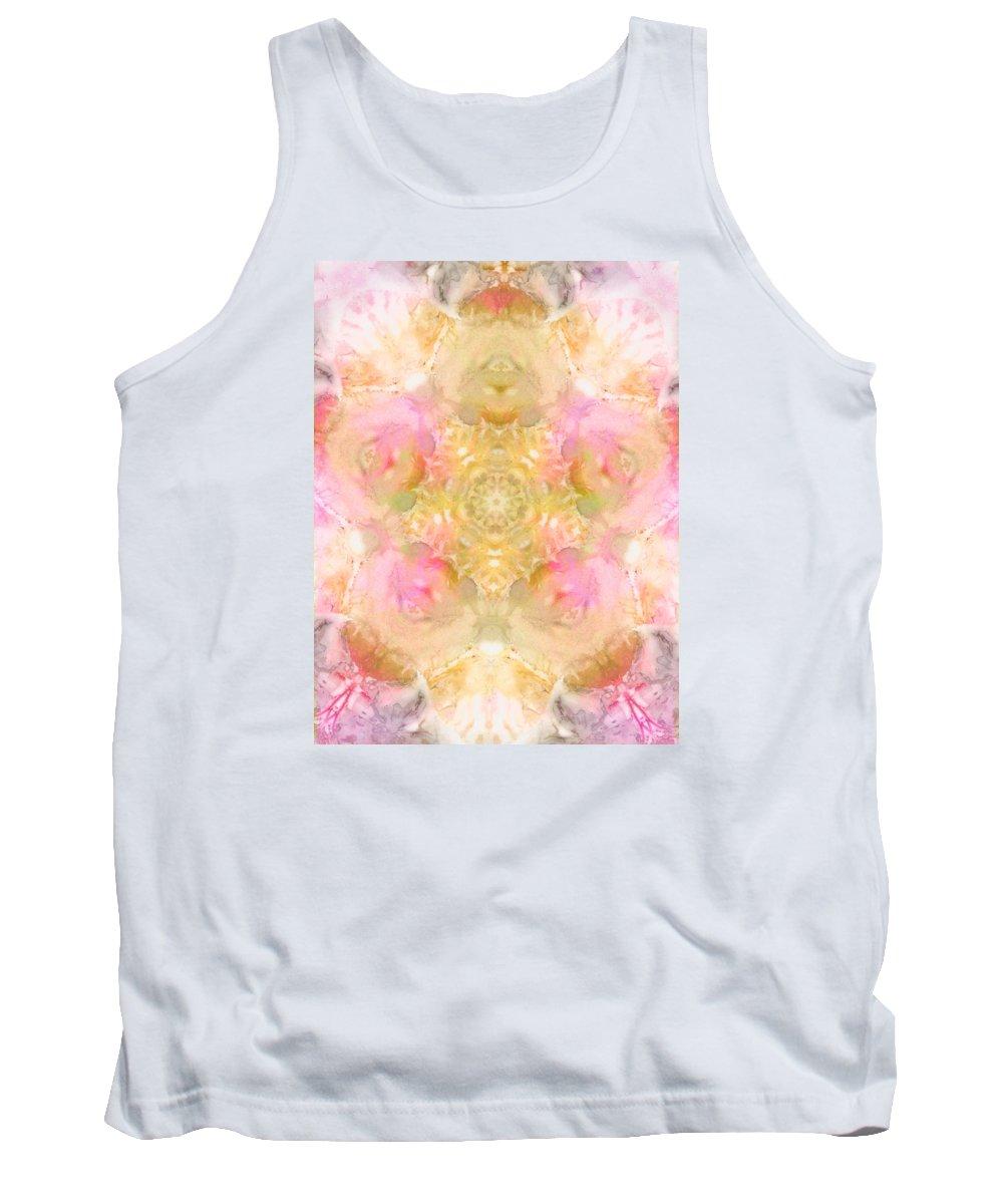 Botanical Tank Top featuring the digital art Eco Print Rose Mandala by Artzmakerz