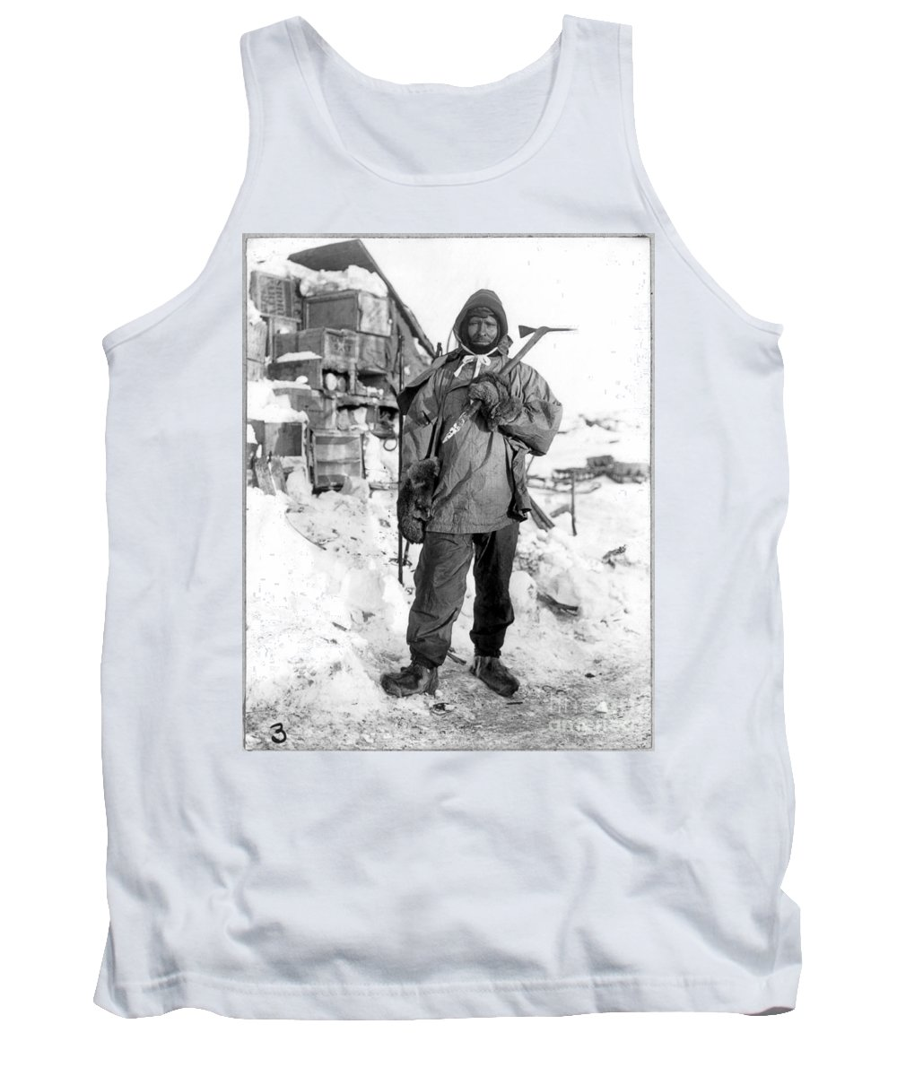 1910 Tank Top featuring the painting Edgar Evans (1876-1912) by Granger