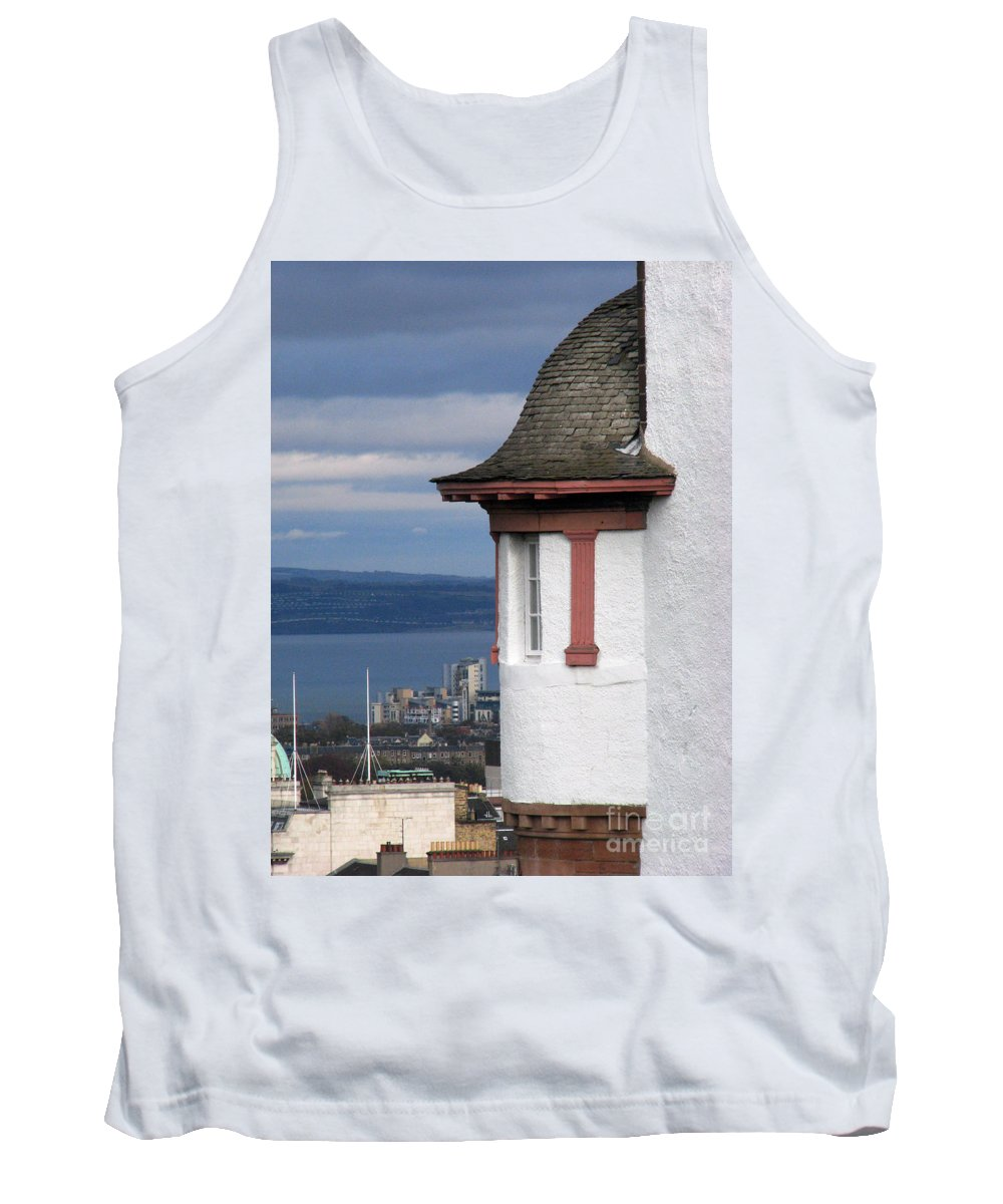 Scotland Tank Top featuring the digital art Edinburgh Scotland by Amanda Barcon