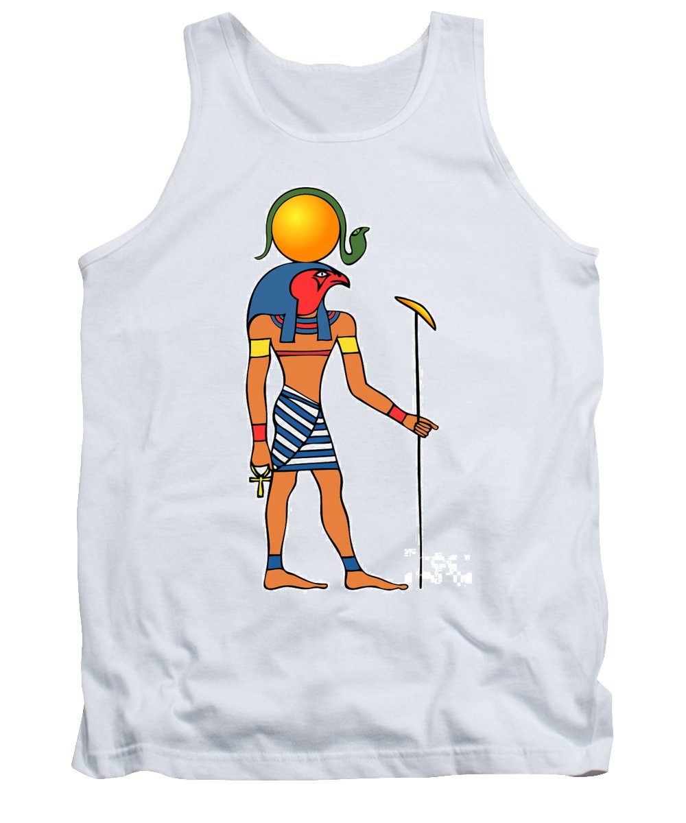 Image Tank Top featuring the drawing Egyptian God Of The Sun - Ra by Michal Boubin