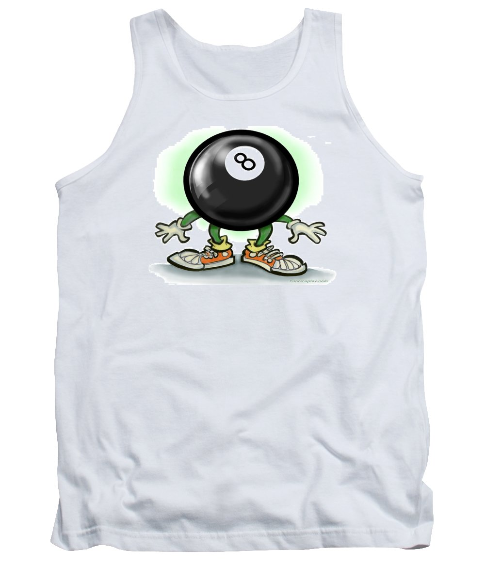Eightball Tank Top featuring the greeting card Eightball by Kevin Middleton