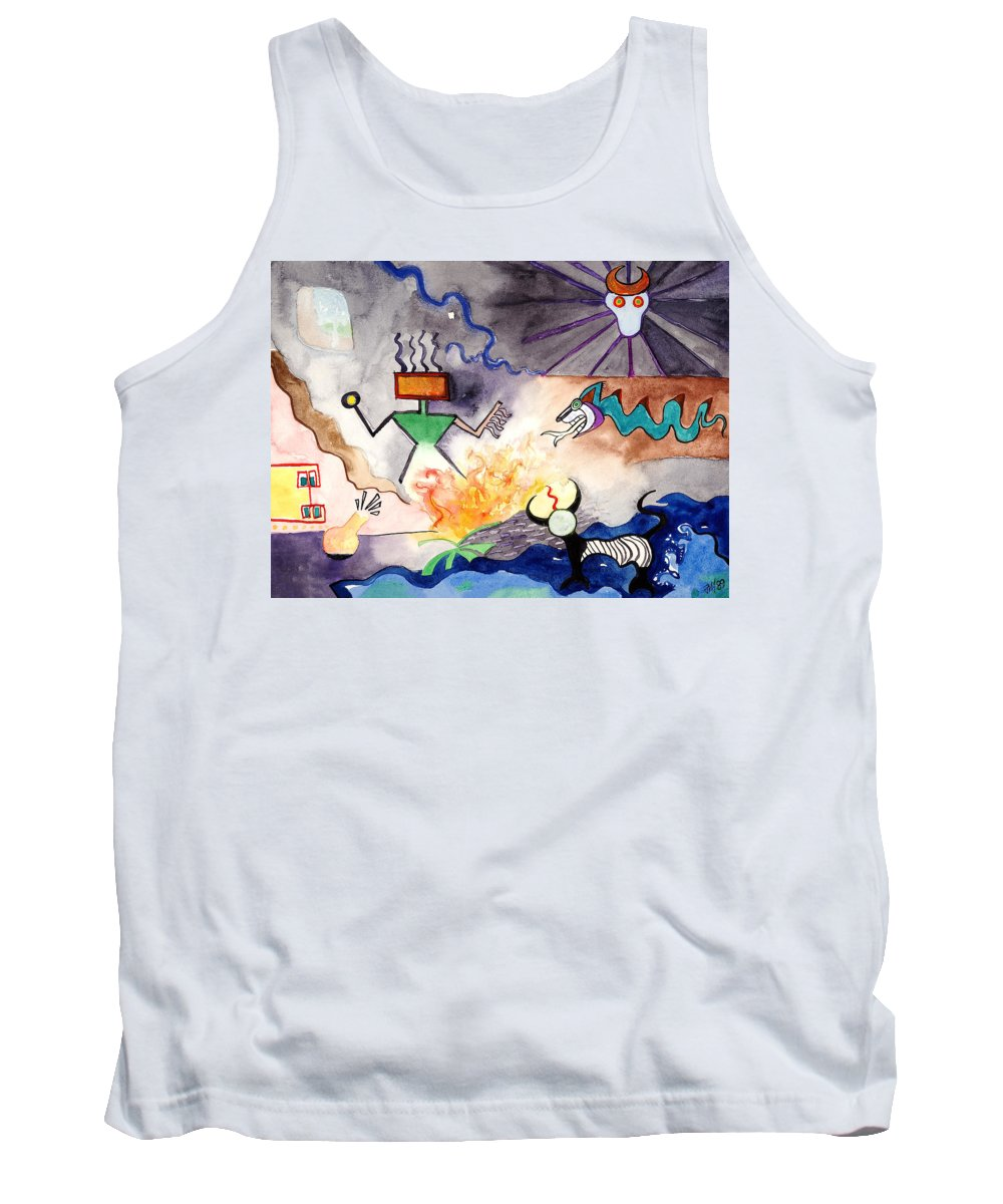 Brujo Tank Top featuring the painting El Brujo by Joe Michelli