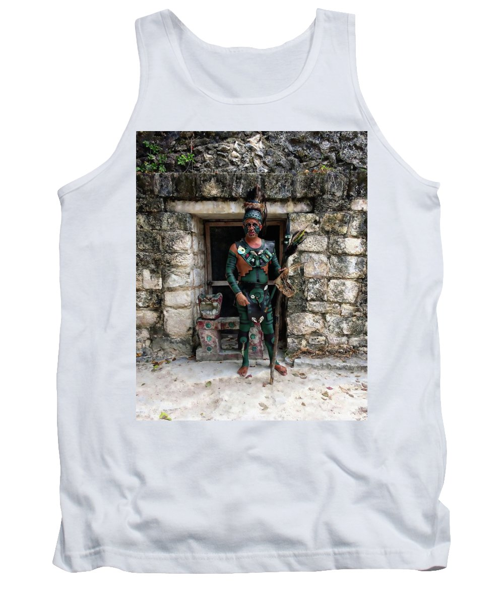 Ancient Tank Top featuring the photograph El Cedral Guard by Anthony Dezenzio