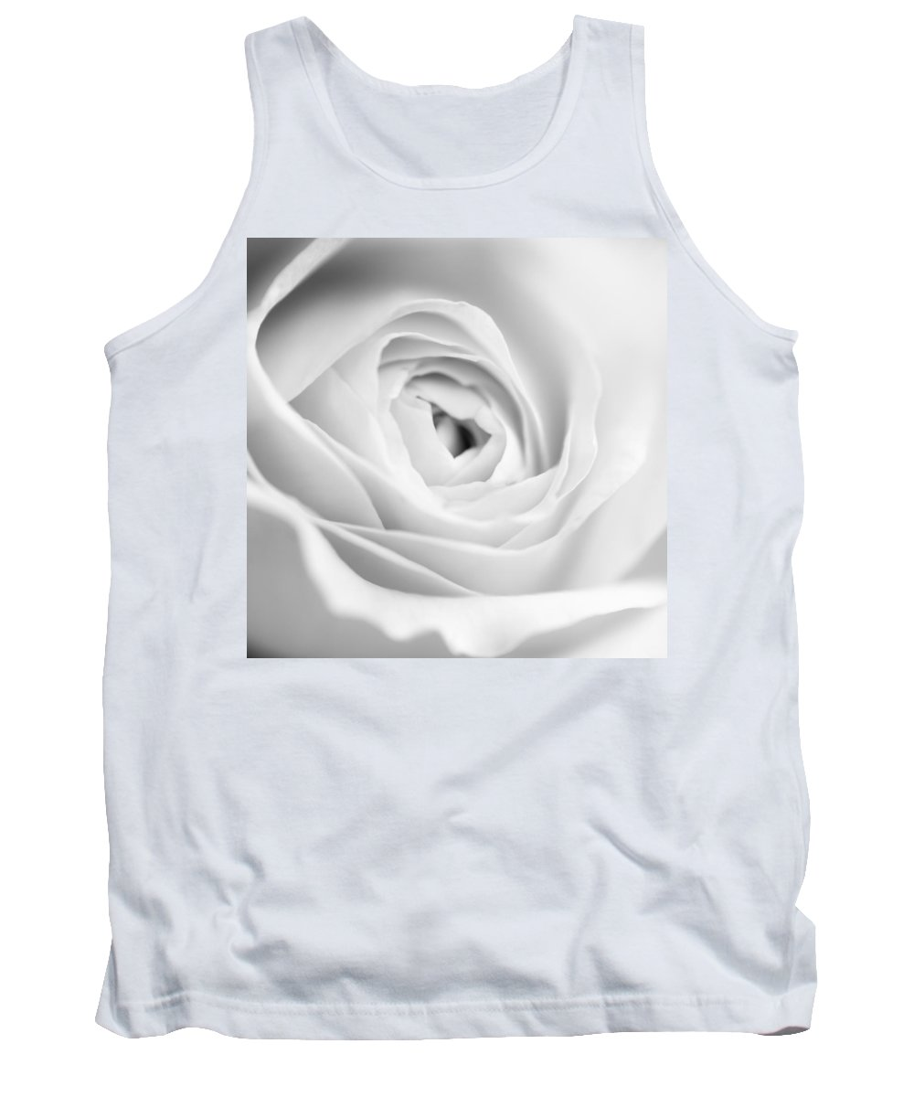Rose Tank Top featuring the photograph Elegant Rose Rendered In Black And White Square by Vishwanath Bhat
