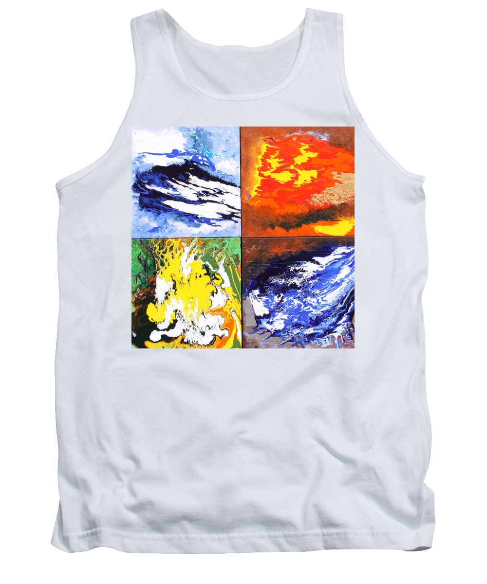 Elements Tank Top featuring the painting Elements by Ralph White