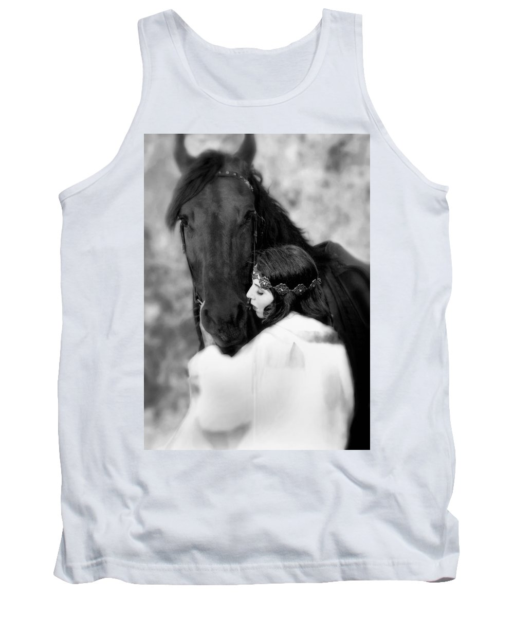 Horse Tank Top featuring the photograph Embrace by Jean Hildebrant
