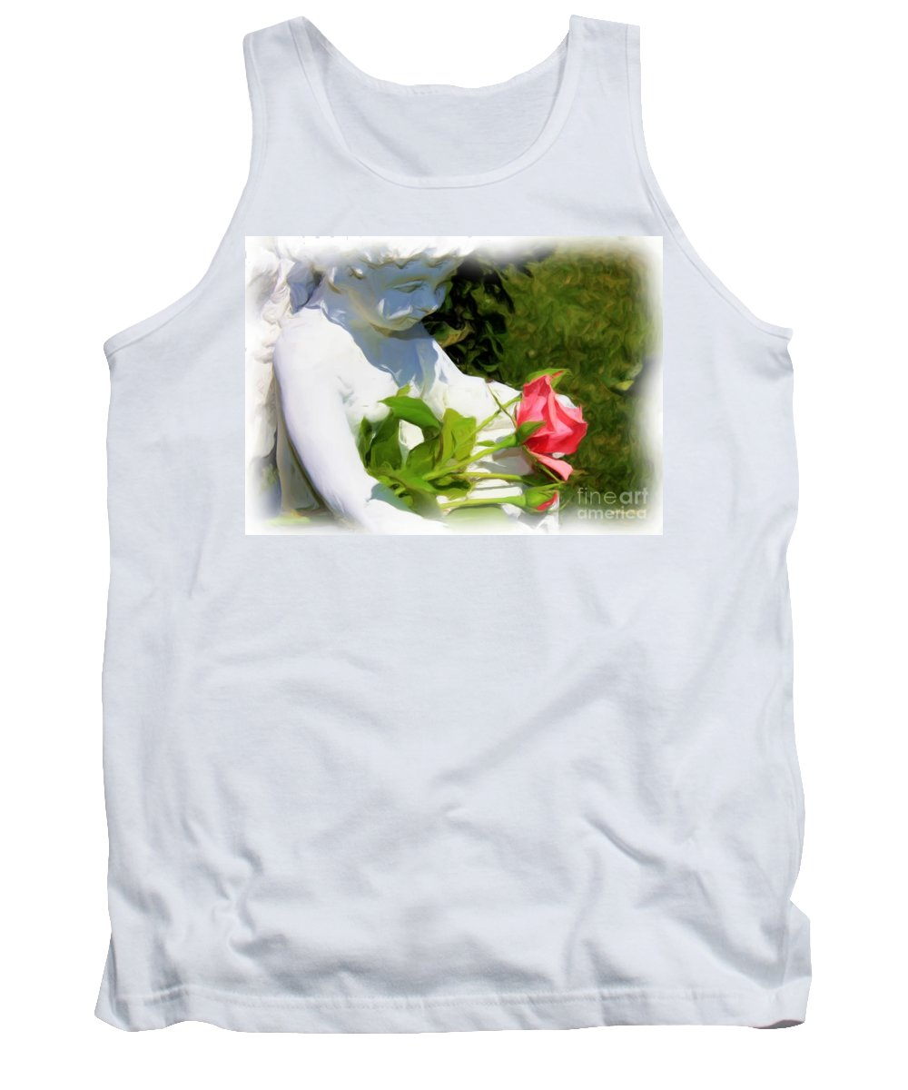 Gardens Tank Top featuring the photograph Embracing Angel by Carol Groenen
