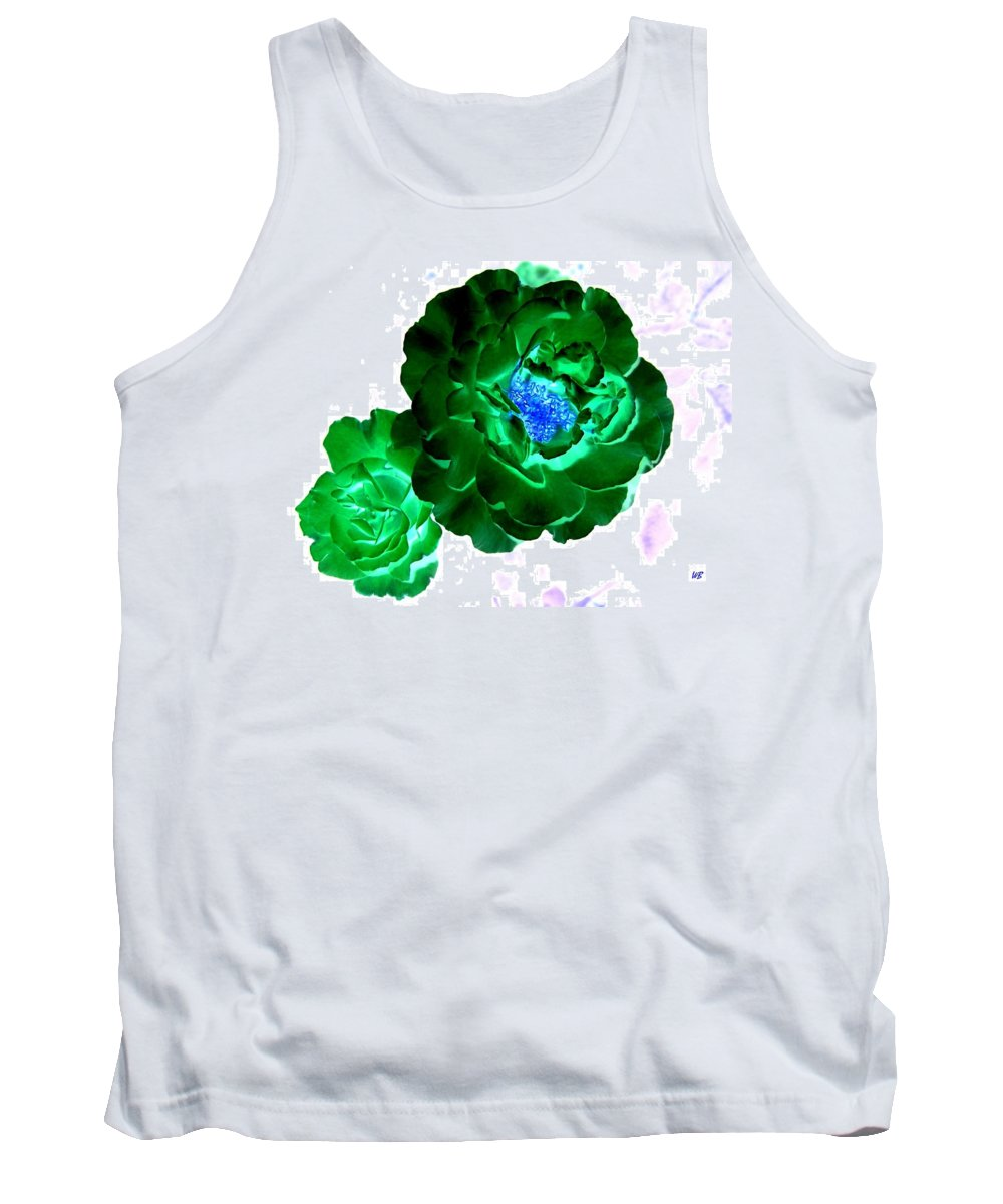 Rose Tank Top featuring the digital art Emerald Rose by Will Borden