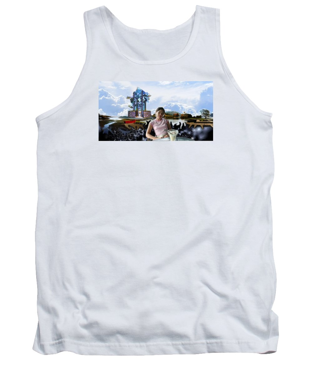 Spacem Maine Tank Top featuring the digital art Emma's Afternoon Snack by Dave Martsolf