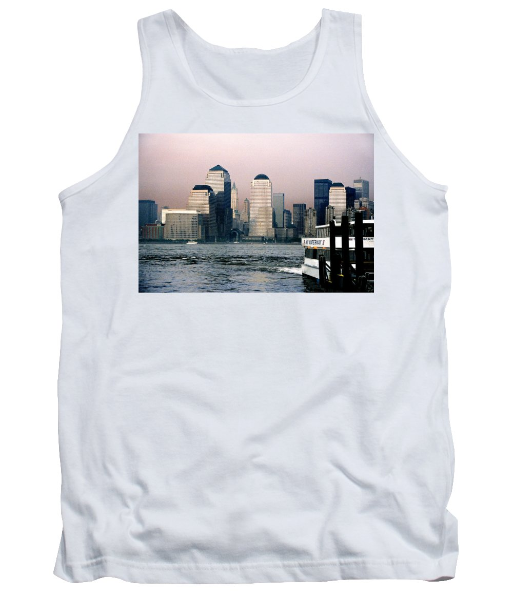 New York Tank Top featuring the photograph Empty Sky by Steve Karol