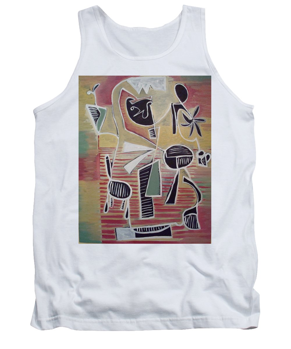 Abstract Tank Top featuring the painting End Cup by W Todd Durrance