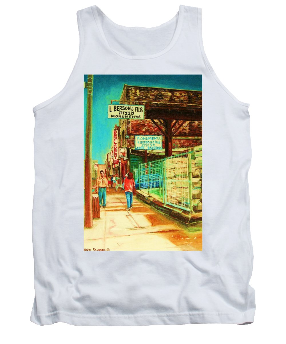 Berson Monuments Tank Top featuring the painting End Of Days by Carole Spandau