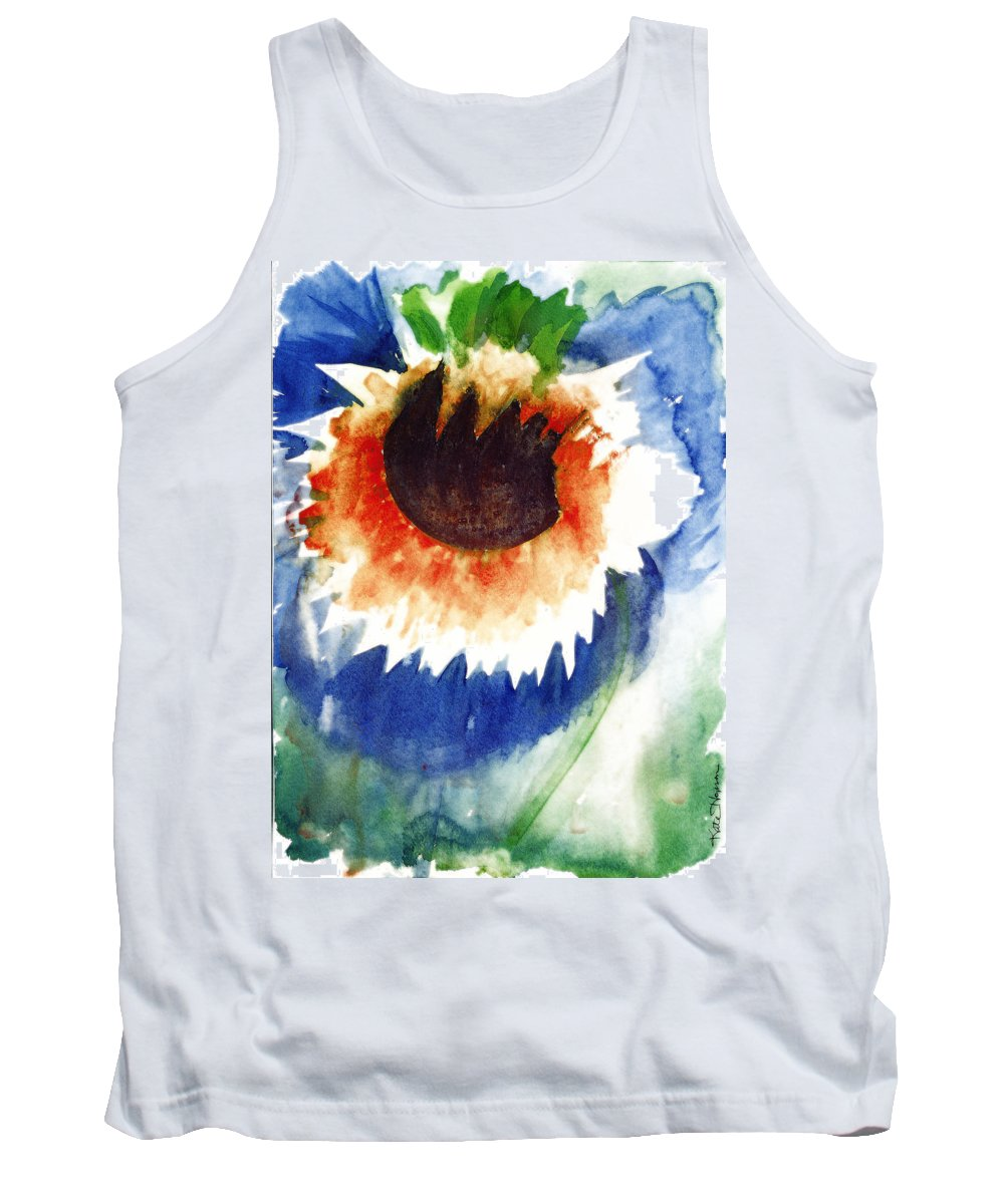 Dying Flower Tank Top featuring the painting End Of Life Release by Kate Hopson