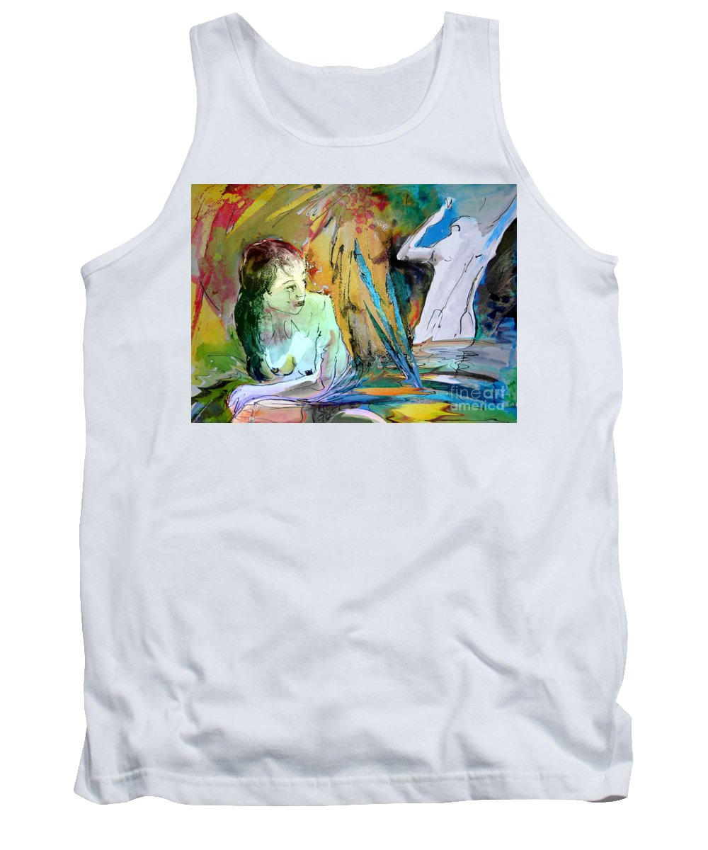 Miki Tank Top featuring the painting Eroscape 15 1 by Miki De Goodaboom